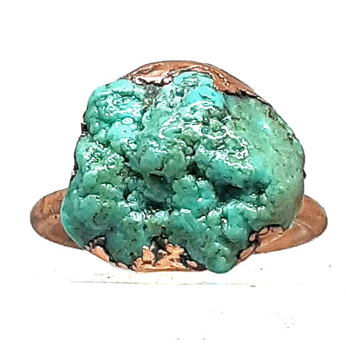 Electroformed turquoise  ring - Size 7
