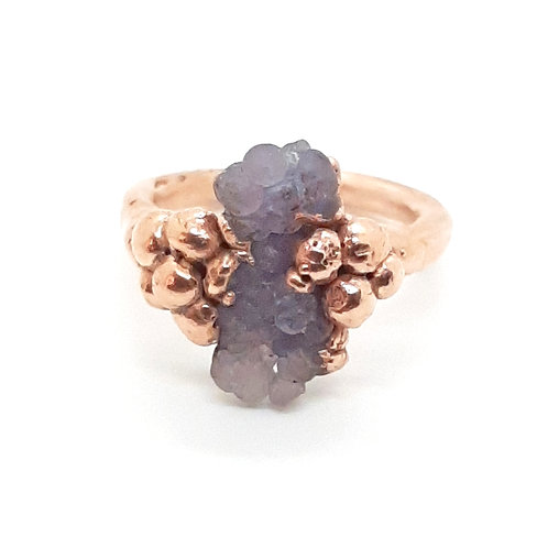 Electroformed Grape Agate Ring