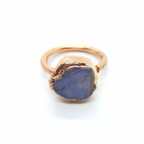 Sapphire Electroformed Ring Size 6.5