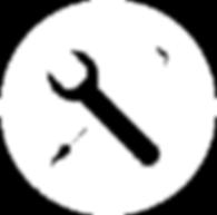 Werkzeuge Icon Weiß