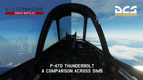 P-47D Thunderbolt: A comparison across simulators