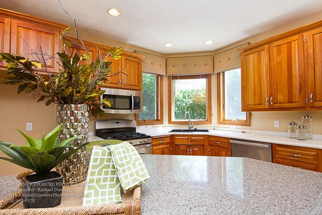 kitchen, granite countertop, staging, details real estate