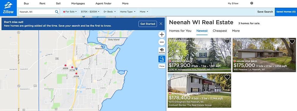 Zillow Search, Neenah Homes, Elegant Exposure