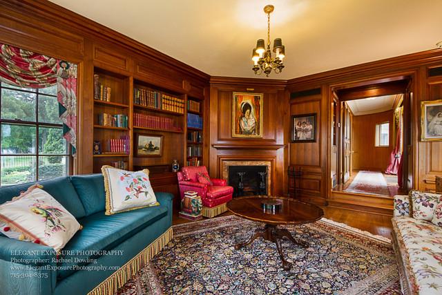 Library, Real estate, Elegant Exposure, Historic Home