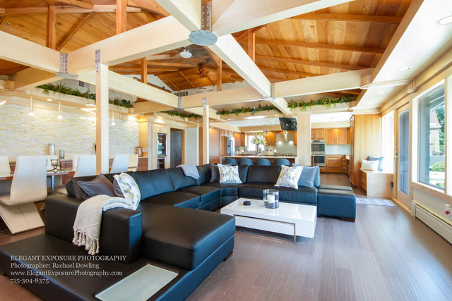 million dollar listing, leather couch, open concept, elegant exposure
