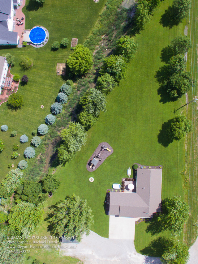 drone images, country property