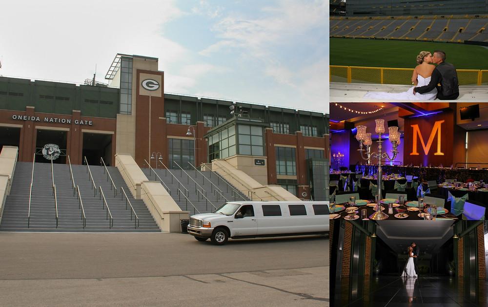 Lambeau Wedding, Sash&Bow, Green Bay Wedding, Packer Stadium
