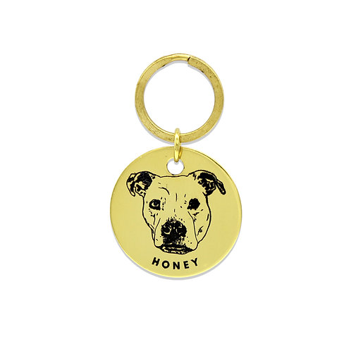 Gold Pet Passport ID Charm