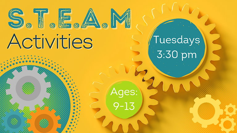 S.T.E.A.M Activities (Ages: 9-13)