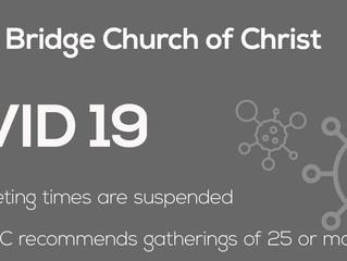 Natural Bridge Church of Christ Worship Services Update 3/23/20