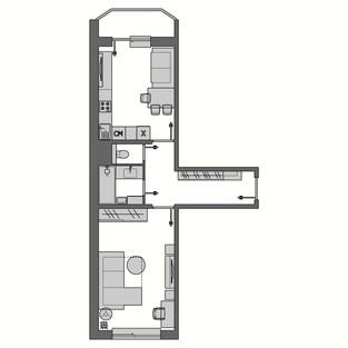 1комнатная квартира
