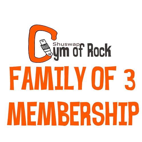 Family of 3 Annual Membership