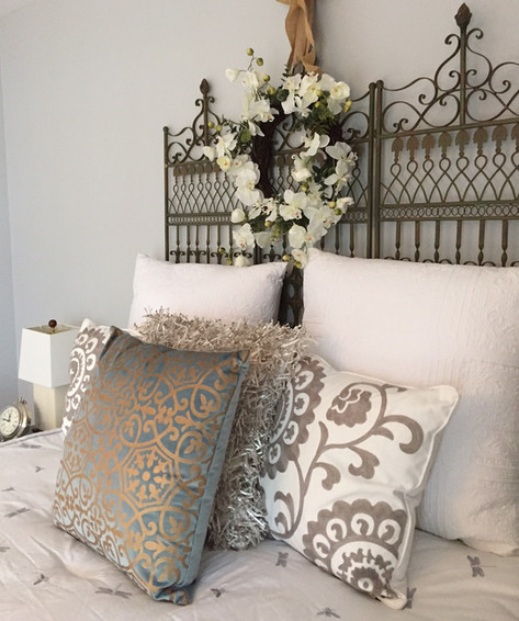 Staged bedroom Mt. Juliet, TN by Joan Greene Studio