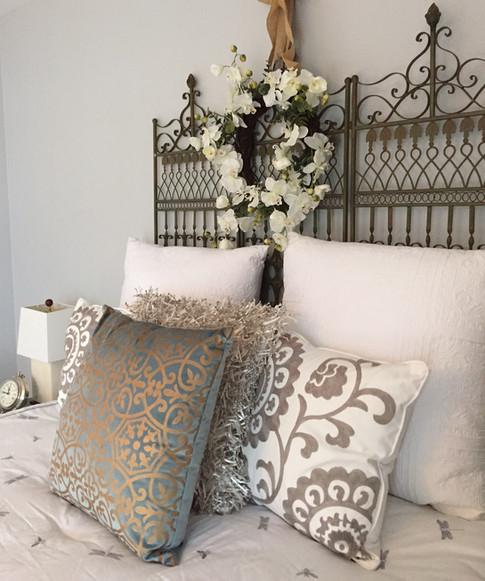 Staged bedroom Mt. Juliet, TN by Joan Greene Studio