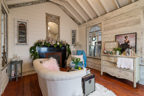 She-Shed, Lady Barn, Tiny house staging by Joan Greene Studio