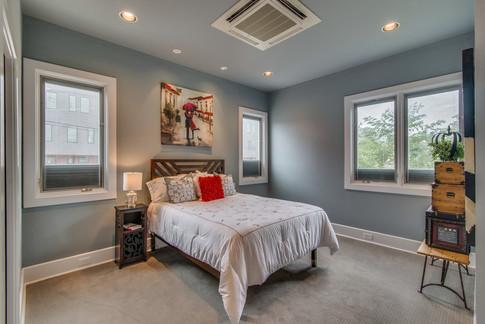 Bedroom staged by Joan Greene Studio