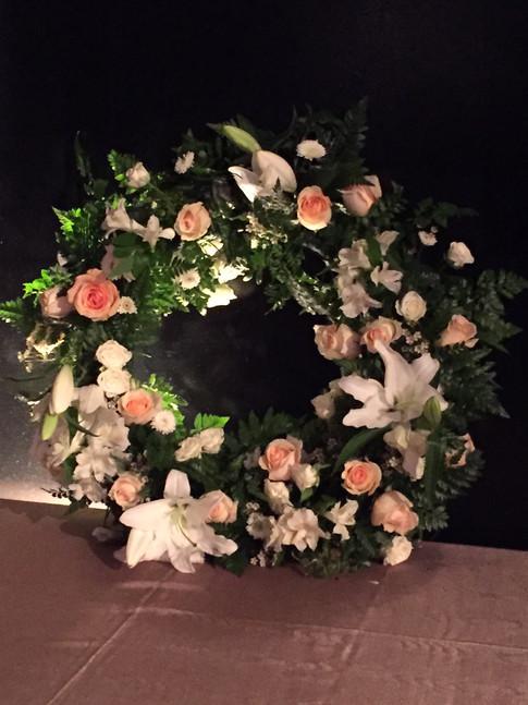 Wreath for wedding by Joan Greene Studio