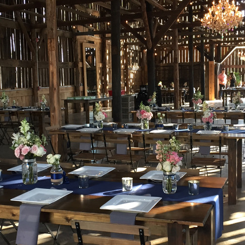 Wedding reception and event flowers by Joan Greene Studio