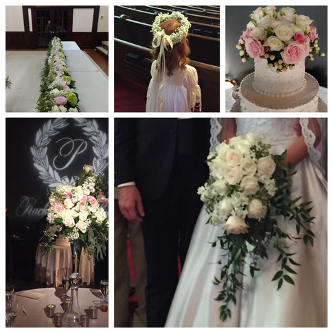 Rachel and Ryan's wedding. Flowers by Joan Greene Studio