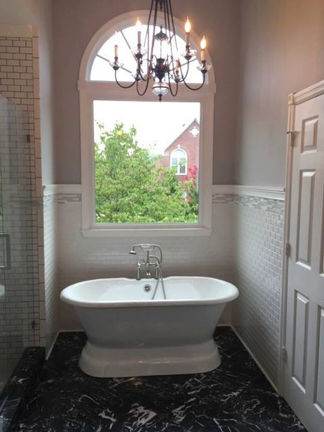Bathroom design in Donelson, Nashville, TN by Joan Greene Studio