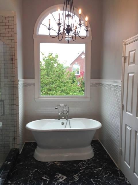 Bathroom design in Donelson, Nashville, TN by Joan Greene Studio