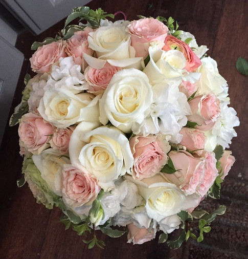 Emily's wedding bouquet.  Made just the way the bride dreamed of. By Joan Greene Studio