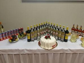 Nápojový stôl na svadbe