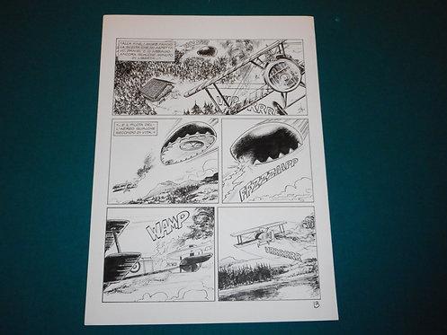 Luca RAIMONDO - tavola originale # 13 Brad Barron # 5 Bonelli Original Comic art