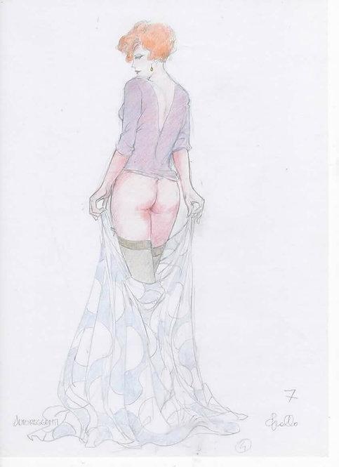 LEONE FROLLO illustrazione originale MONA STREET n.54 pubblicata volume SCARABEO