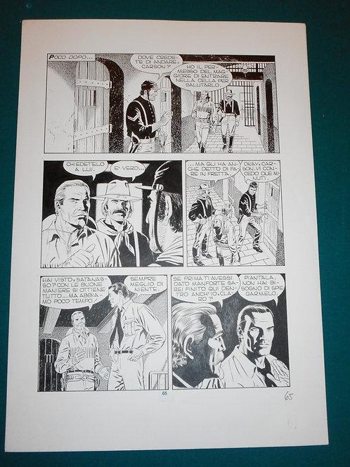 Fabio CIVITELLI Original Comic Art - Tavola # 65 TEX # 475 S. Bonelli Ed. 2000