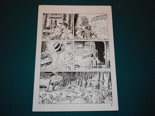 Luca RAIMONDO - tavola originale # 8 Brad Barron # 5 Bonelli Original Comic art