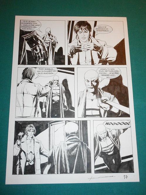 CORRADO ROI Tavola originale L'IMPRONTA DEL DIAVOLO pubblicata su BRENDON # 80