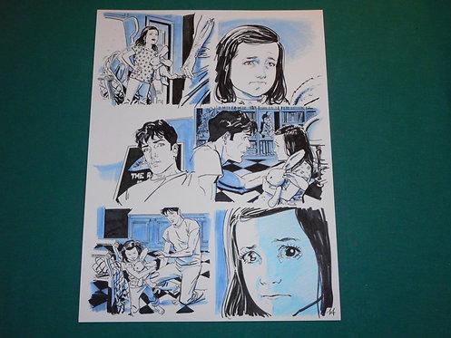 BRUNO BRINDISI Tavola originale # 14 CASCA IL MONDO pubblicata su DYLAN DOG #393