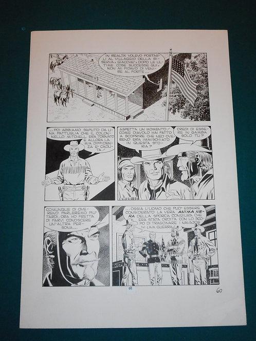 Fabio CIVITELLI Original Comic Art - Tavola # 60 TEX # 477 S. Bonelli Ed. 2000
