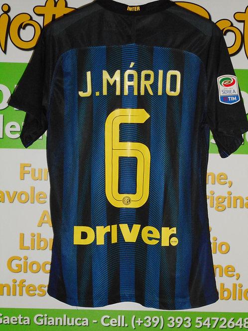 Maglia INTER # 6 João Mário Serie A 2016/17 match worn shirt NIKE PIRELLI DRIVER