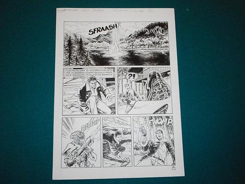 Luca RAIMONDO - tavola originale # 15 Brad Barron # 5 Bonelli Original Comic art