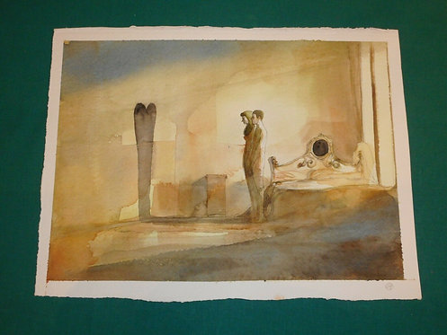 GIPI Illustrazione Originale China Acquerello Serie CUORI pubblicato Repubblica