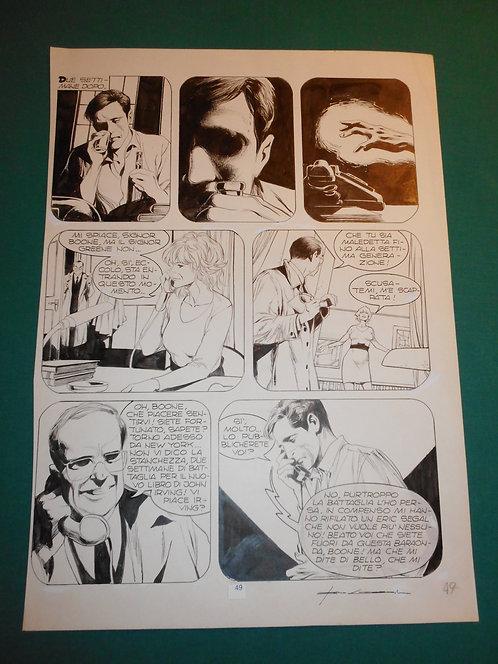 CORRADO ROI Tavola originale MEFISTOFELE pubblicata su SPECIALE DYLAN DOG # 4