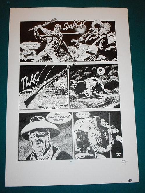 Fabio CIVITELLI Original Comic Art - Tavola # 88 TEX # 476 S. Bonelli Ed. 2000