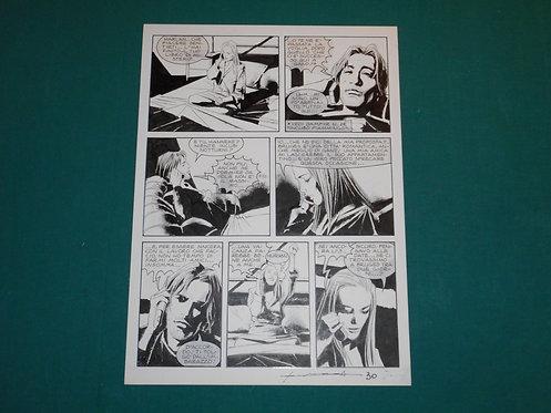 CORRADO ROI Tavola originale TRE VECCHIE SIGNORE pubblicata su DAMPYR # 51 2004