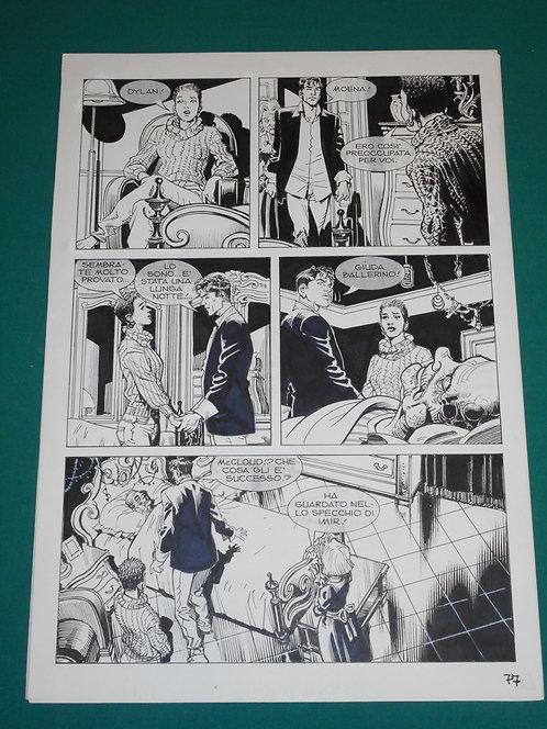 "DANIELE BIGLIARDO Tavola originale # 77 Dylan Dog # 290 ""L'erede Oscuro"" 2010"