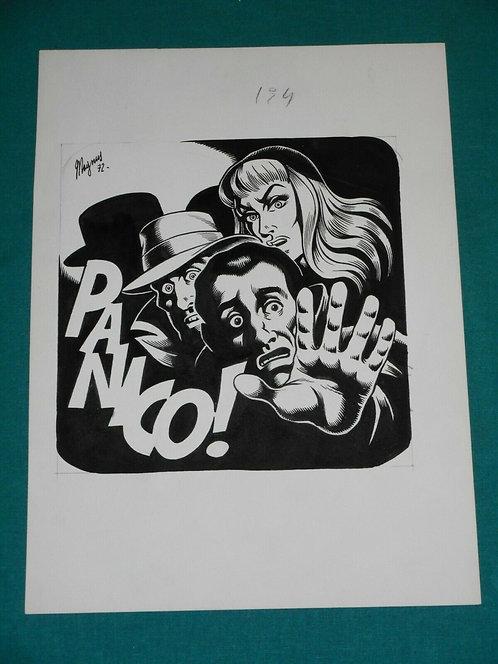MAGNUS Roberto Raviola Tavola Copertina Cover originale Satanik # 194 Corno 1972