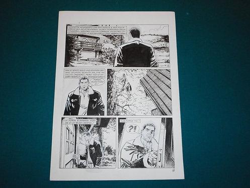 Luca RAIMONDO - tavola originale # 6 Brad Barron # 5 Bonelli Original Comic art