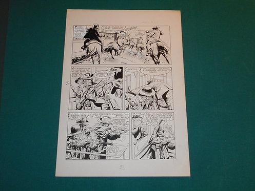 VLADIMIRO (MIRO) MISSAGLIA Tavola originale # 21 pubblicata su JUDAS # 1 1979