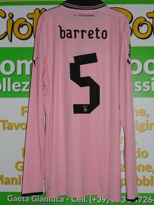 Maglia PALERMO # 5 BARRETO Serie A 2012/13 match worn shirt PUMA EUROBET ITALIAC