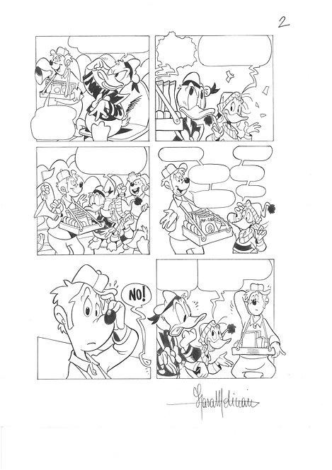 LARA MOLINARI tavola originale Disney PAPERINO E L'IRRAGGIUNGIBILE CHOCOPAPP # 2