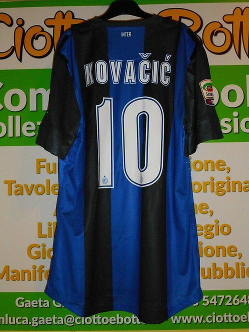Maglia INTER # 10 Mateo KOVAČIĆ Serie A 2012/13 match worn shirt NIKE PIRELLI