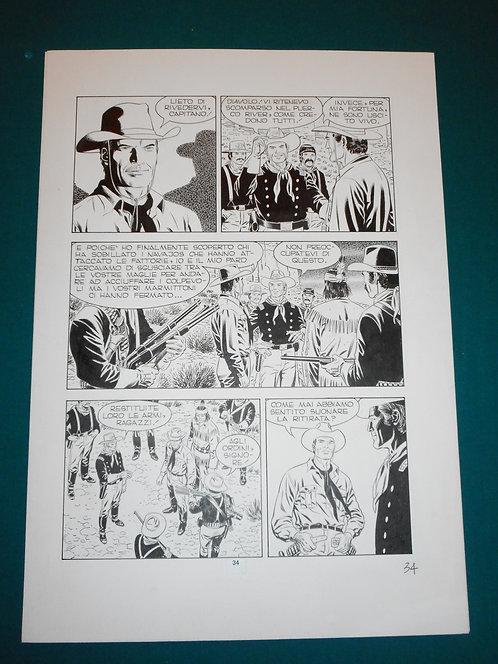 Fabio CIVITELLI Original Comic Art - Tavola # 34 TEX # 477 S. Bonelli Ed. 2000