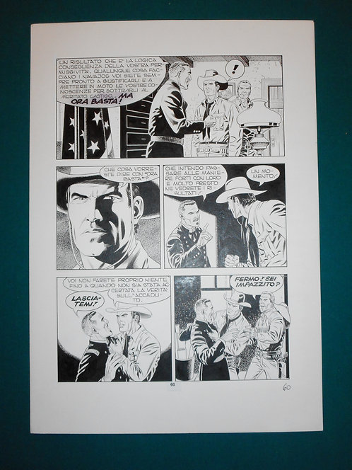 Fabio CIVITELLI Original Comic Art - Tavola # 60 TEX # 475 S. Bonelli Ed. 2000