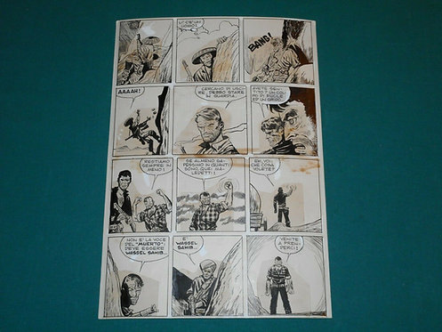 HUGO PRATT tavola originale # 235 JUNGLEMEN pubblicata su Misterix 754 anno 1963